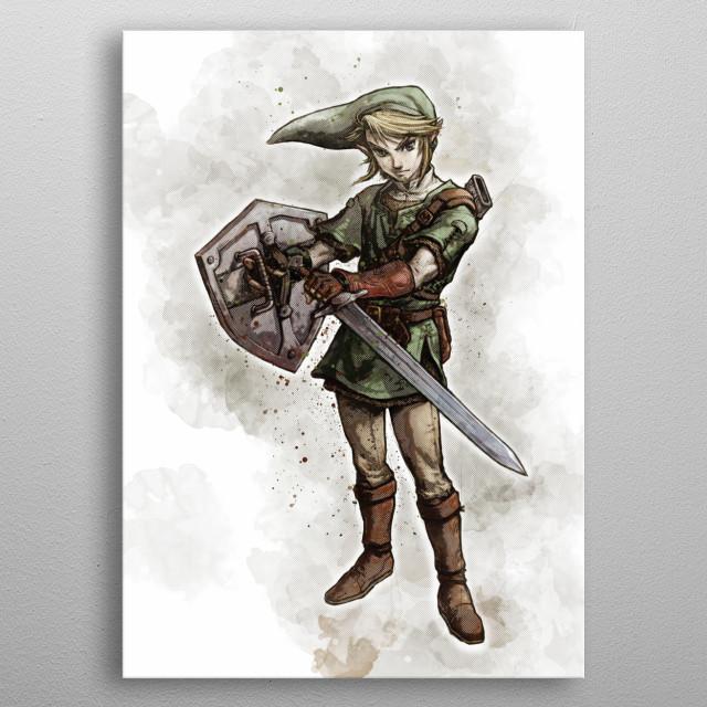 Sketch - Legend of Zelda - Link metal poster