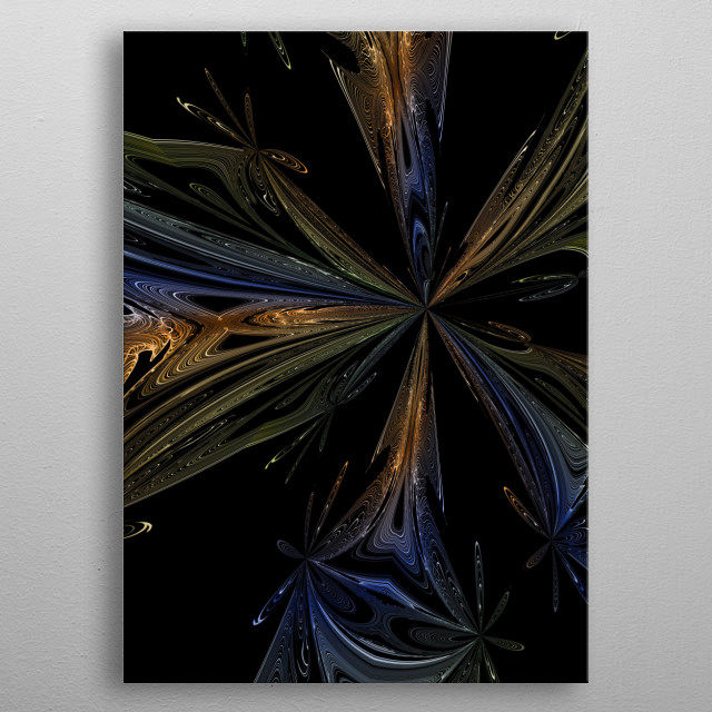 modern and abstract background metal poster
