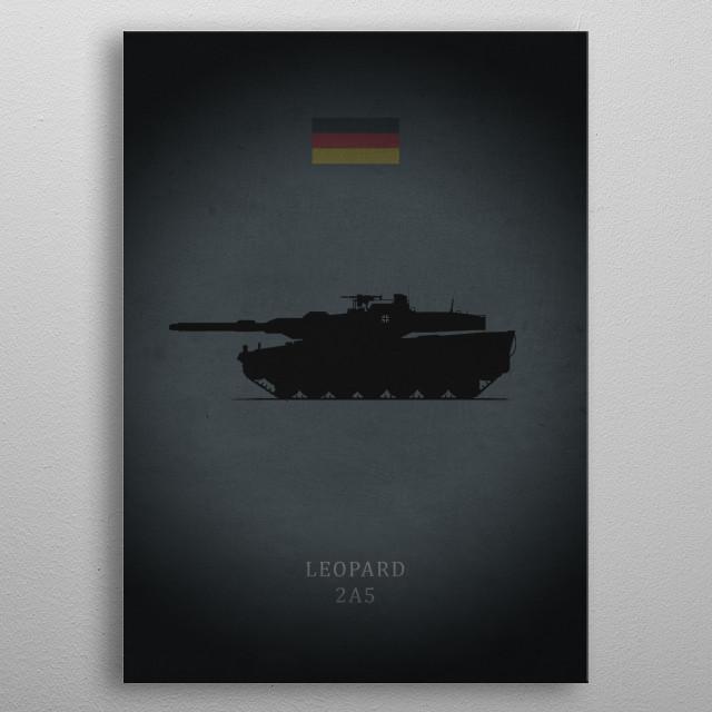 Leopard 2A5 metal poster