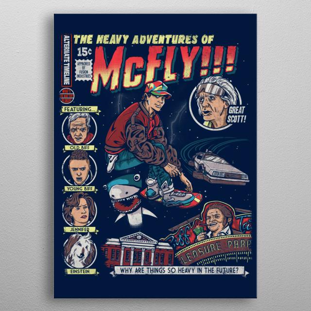Heavy Adventures metal poster