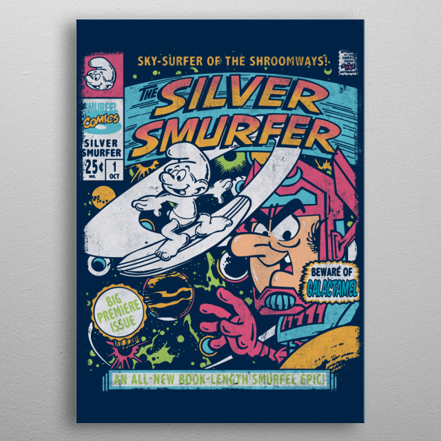 The Silver Smurfer metal poster
