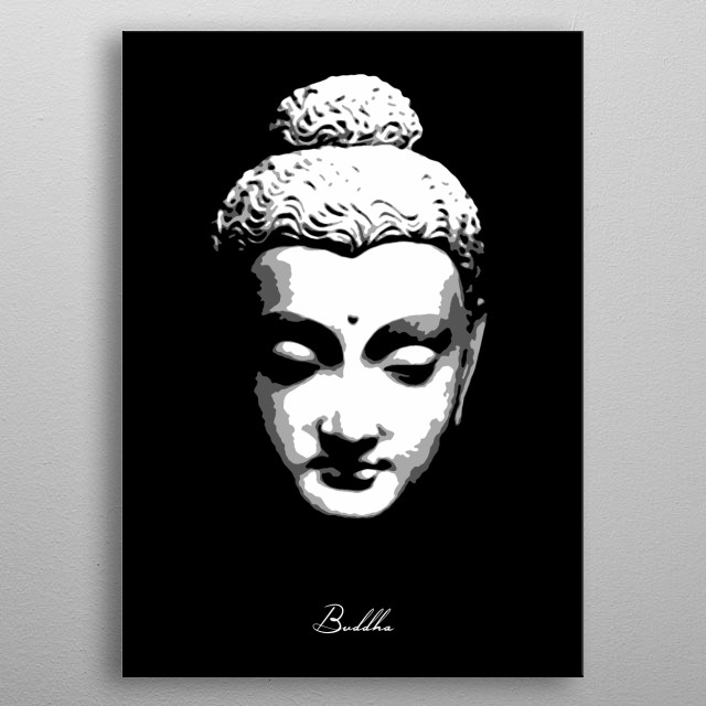 Buddha v2.0 metal poster