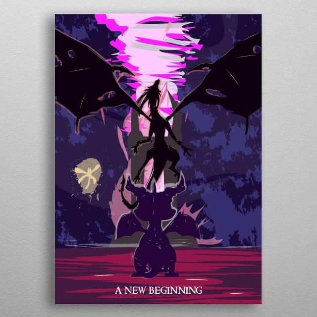 A New Beginning metal poster