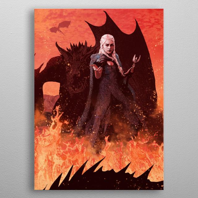 Daenerys Targaryen metal poster