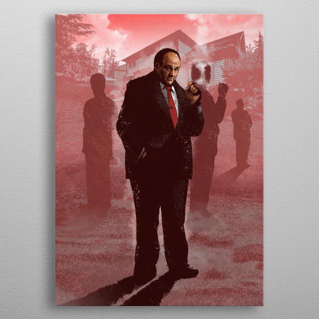Tony Soprano metal poster