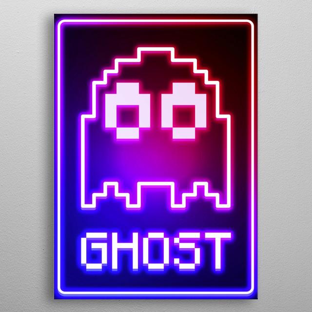 Light ghost metal poster