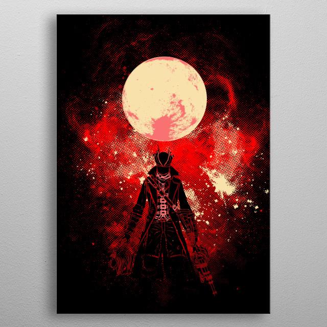 Blood Hunter Art metal poster
