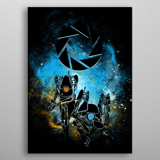 A Science Art metal poster