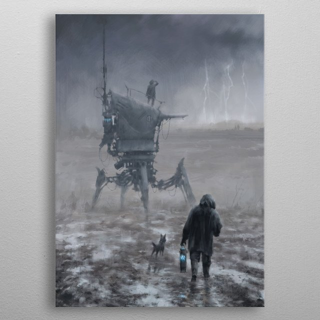 This marvelous metal poster designed by jakubrozalski to add authenticity to your place. Display your passion to the whole world. metal poster