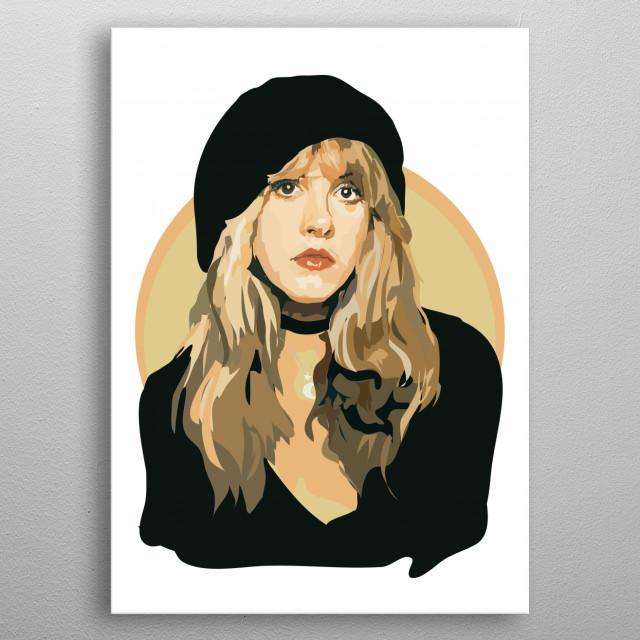 Stevie Nicks metal poster