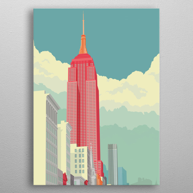Empire State Building NYC metal poster
