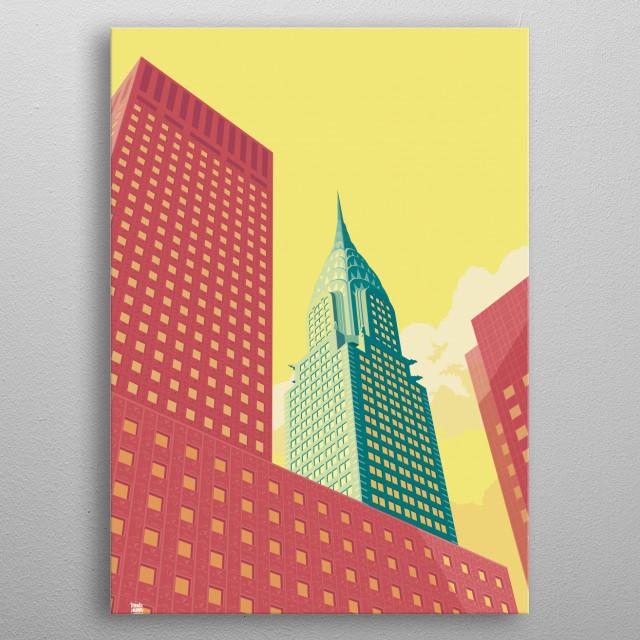 Chrysler Building NYC metal poster
