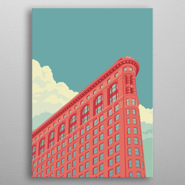 Flatiron Building NYC metal poster