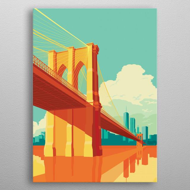 Brooklyn Bridge NYC metal poster