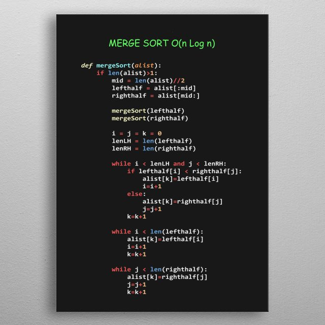 Most Popular Algorithms Serie in Python - Nº 2 metal poster
