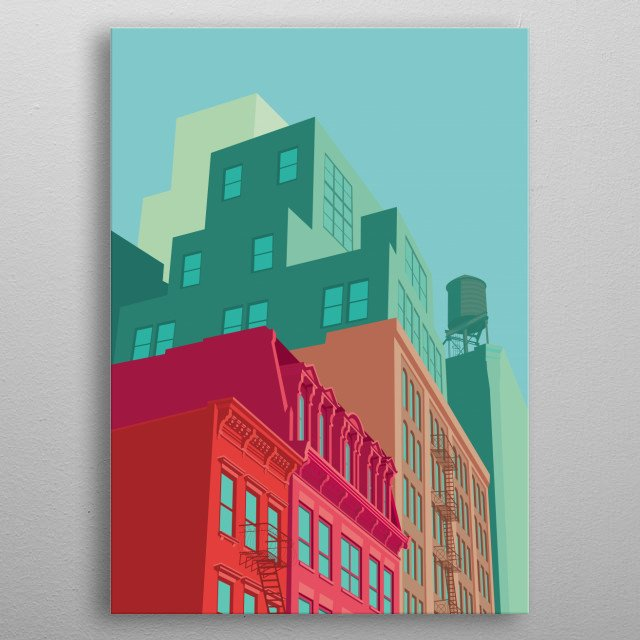Mulberry Street NYC metal poster