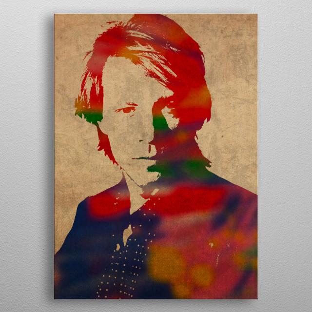 Jon Bon Jovi Watercolor Portrait metal poster