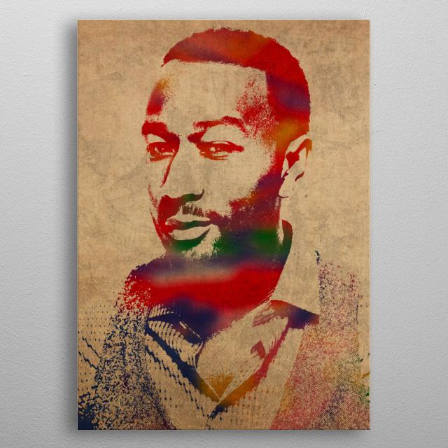 John Legend Watercolor Portrait metal poster