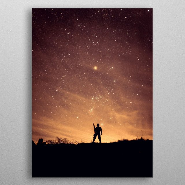 One Man Army metal poster