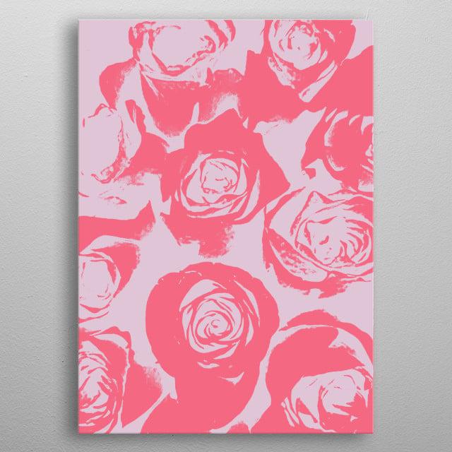 Rose Impressions metal poster