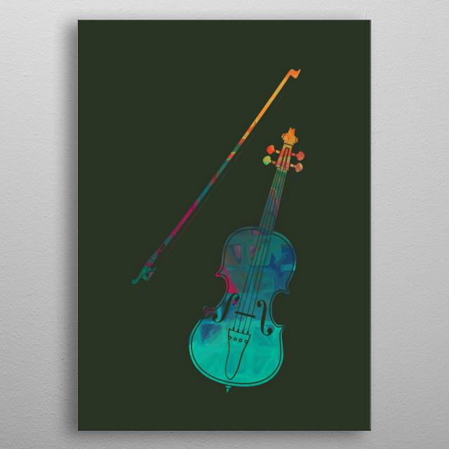 Violin metal poster