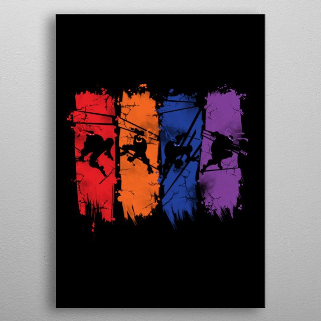 LIKE SHADOWS IN THE NIGHT metal poster