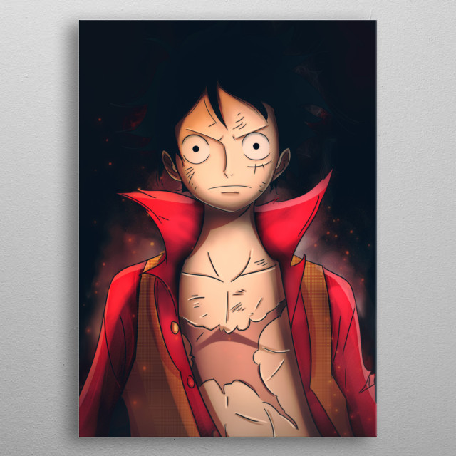 Luffy. One piece  metal poster