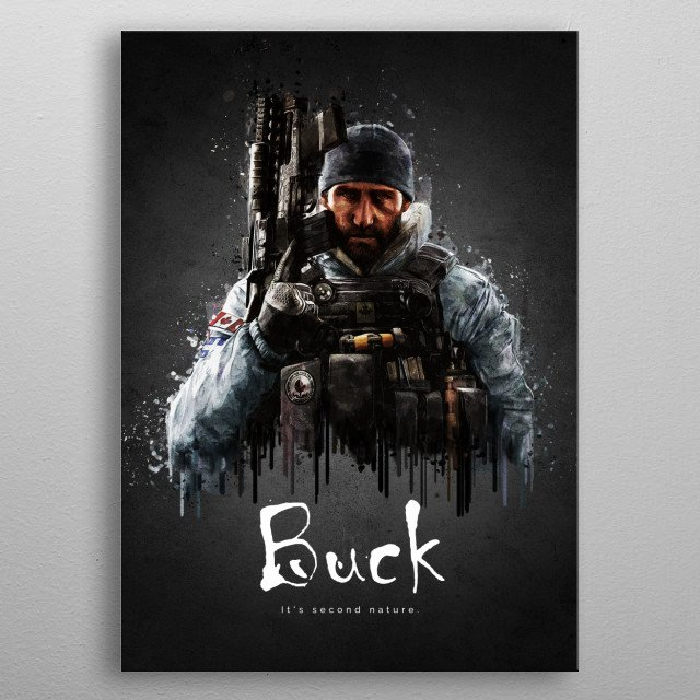 Operator Buck from Rainbow Six Siege metal poster