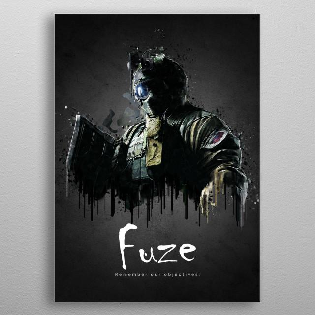 Operator Fuze from Rainbow Six Siege metal poster