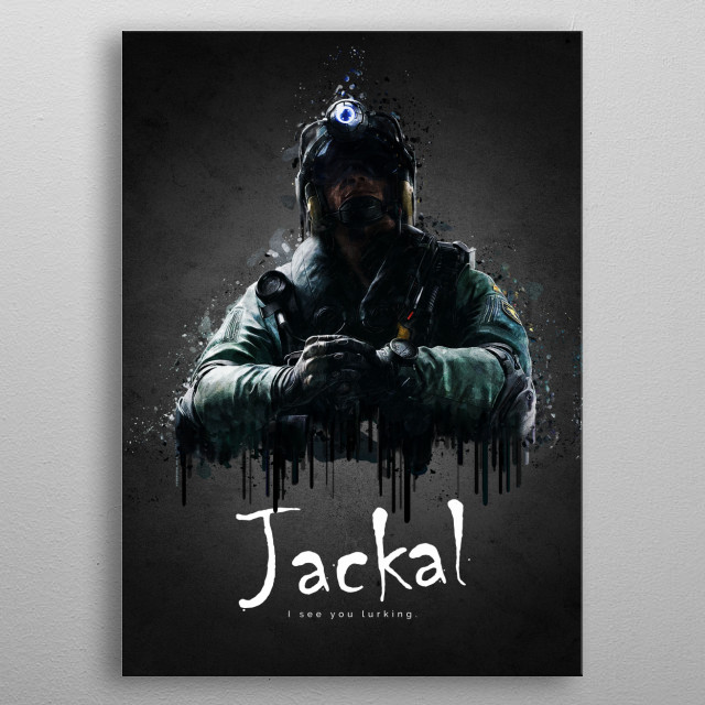 Operator Jackal from Rainbow Six Siege metal poster