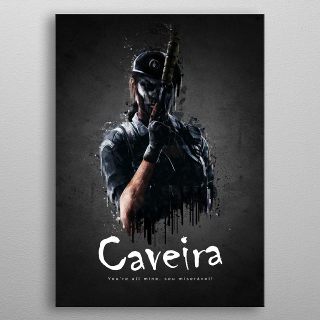 Operator Caveira from Rainbow Six Siege metal poster