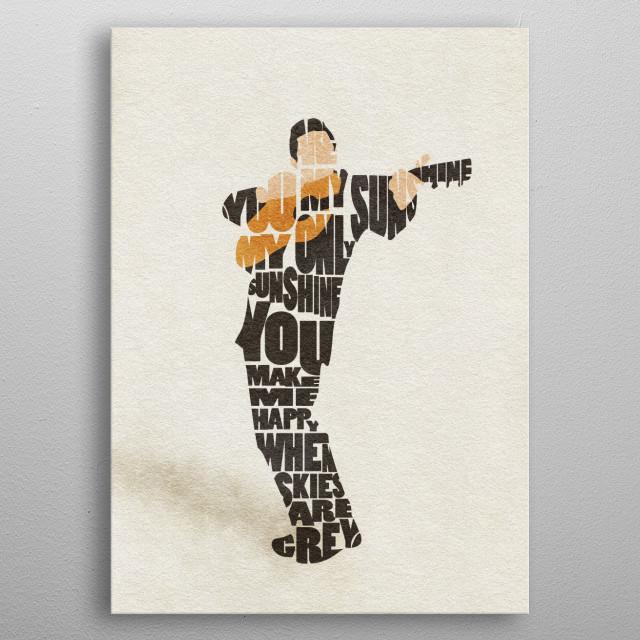 Johnny Cash Typographic and Minimalist Art metal poster