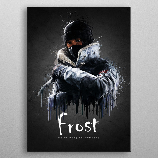Operator Frost from Rainbow Six Siege metal poster