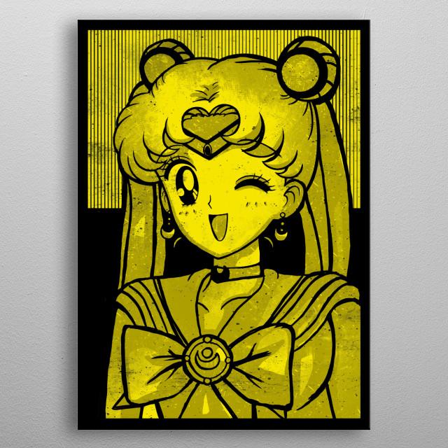 Moon -  Sailor Moon metal poster
