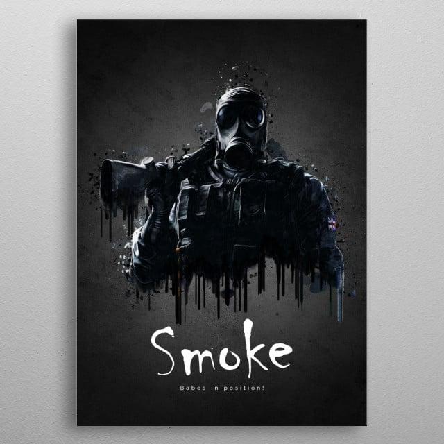 Operator Smoke from Rainbow Six Siege metal poster