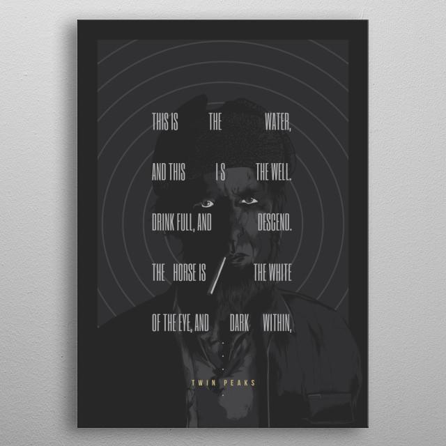 Twin Peaks - 2017 metal poster