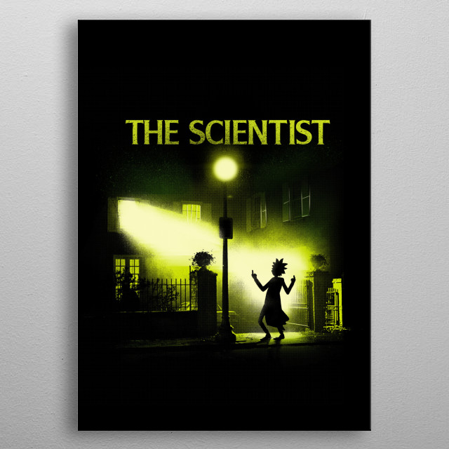 The Scientist metal poster