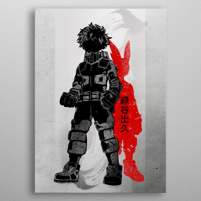 Crimson Hero Deku metal poster