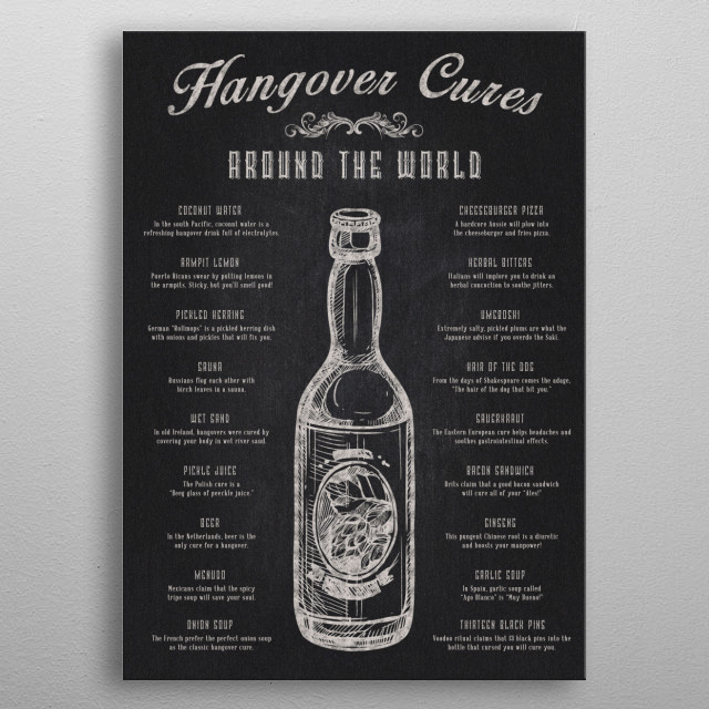 The Hangover Cures from Around The World metal poster