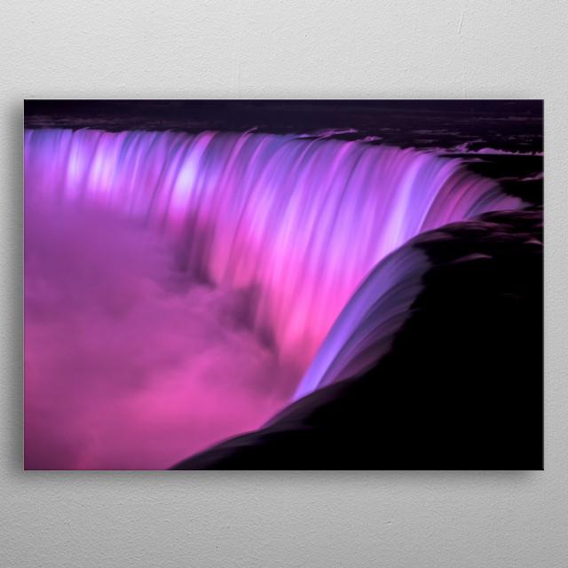 The Brink of the Niagara Falls metal poster