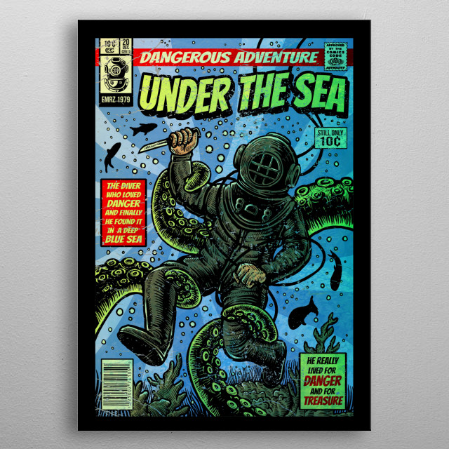 Under the Sea metal poster