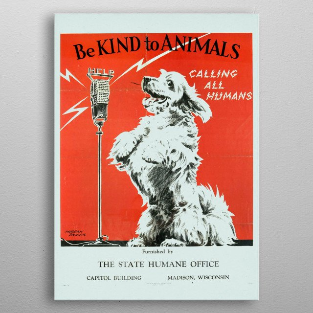 High-quality metal print from amazing Vintage Animals Posters collection will bring unique style to your space and will show off your personality. metal poster