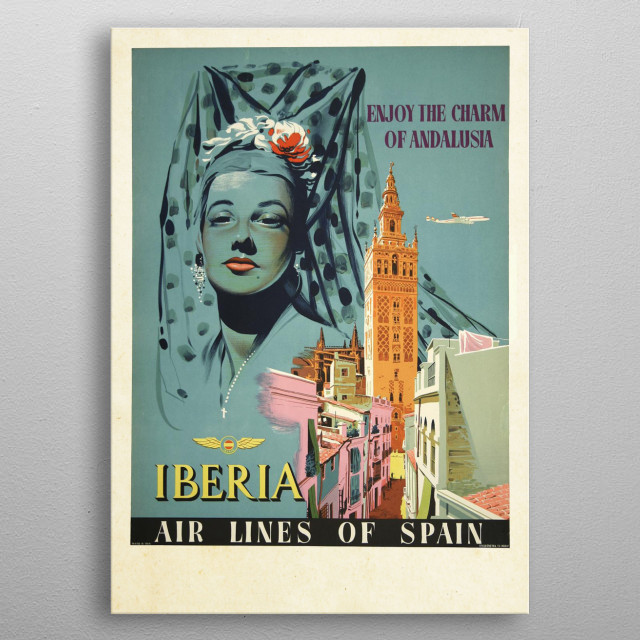 Vintage Travel Poster metal poster