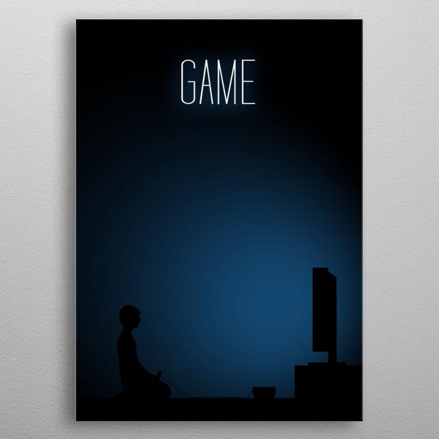 Boy Gamer - Game metal poster