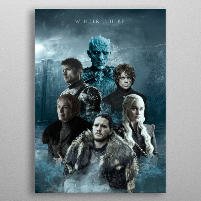 Winter is Here - Game of Thrones metal poster