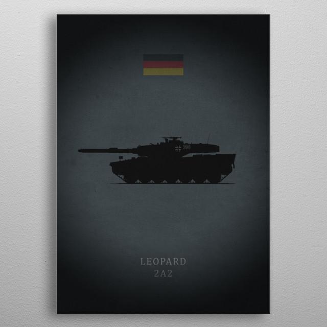 Leopard 2A2 metal poster
