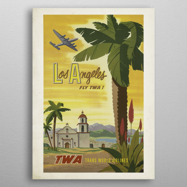 High-quality metal print from amazing Vintage Travel Posters collection will bring unique style to your space and will show off your personality. metal poster