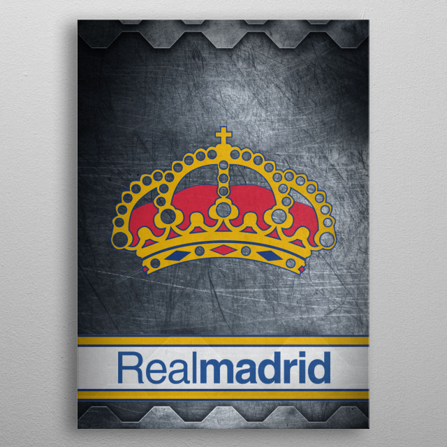 Football Clubs - Real Madrid metal poster