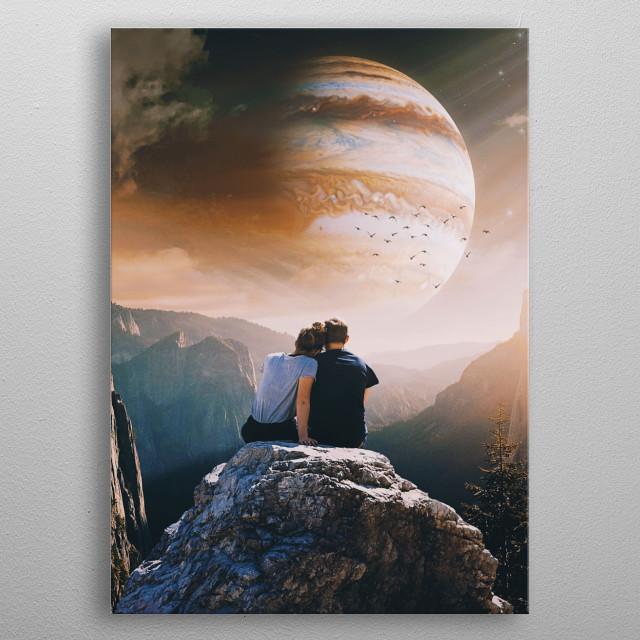 A Weird Planet  metal poster