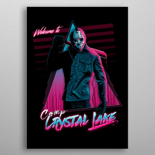 Welcome to crystal lake metal poster